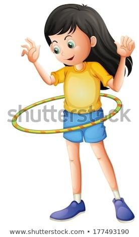 肥満した · 子供 · 行使 · 実例 · 少女 · 行使 - ストックフォト © bluering