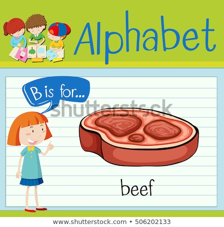 Flashcard alphabet B is for beef Stock photo © bluering