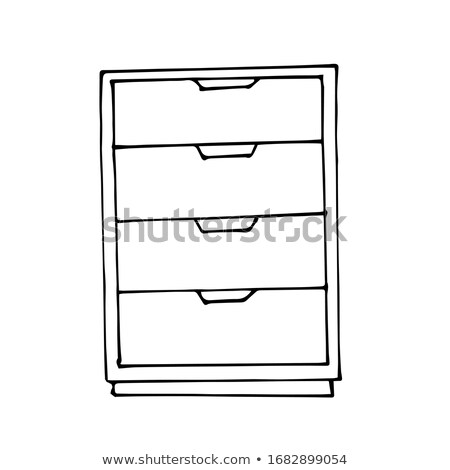 Table with drawers sketch icon. Stock photo © RAStudio