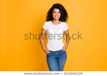 Bella african modello shirt studio mano Foto d'archivio © deandrobot