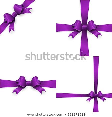purple bow and purple ribbon eps 10 stock photo © beholdereye