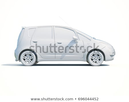 3D araba beyaz şablon 3d render ikon Stok fotoğraf © Supertrooper