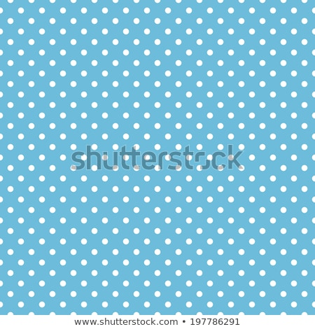 cute blue background with white polka circle dots Stock photo © SArts