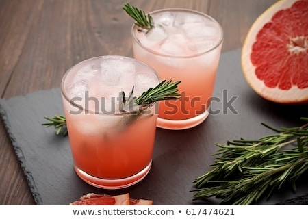 Stockfoto: Refreshing Drink Grapefruit And Rosemary Cocktail