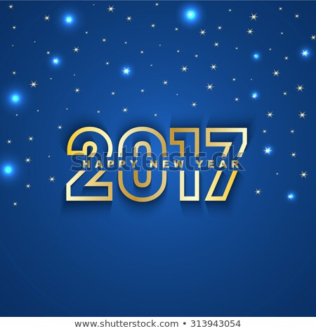 beautiful new year 2017 background with sparkles effect Stock photo © SArts