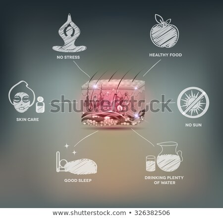 Cell anatomy beautiful mesh background Stock photo © Tefi