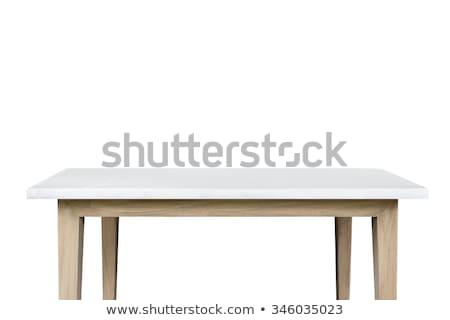 Vuota tavolo da cucina isolato bianco moderno pezzo Foto d'archivio © robuart