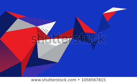 Red and blue printed poster paper texture Stock photo © stevanovicigor