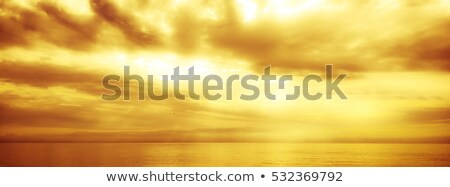 Heavens Golden Gates And Yellow Sky Stock photo © albund