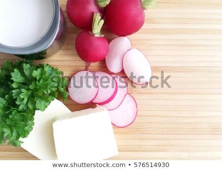 Fraîches radis beurre salade légumes Photo stock © M-studio