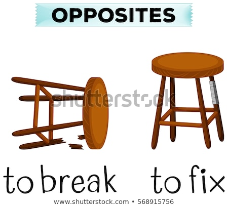 Opposite wordcard for break and fix Stock photo © bluering