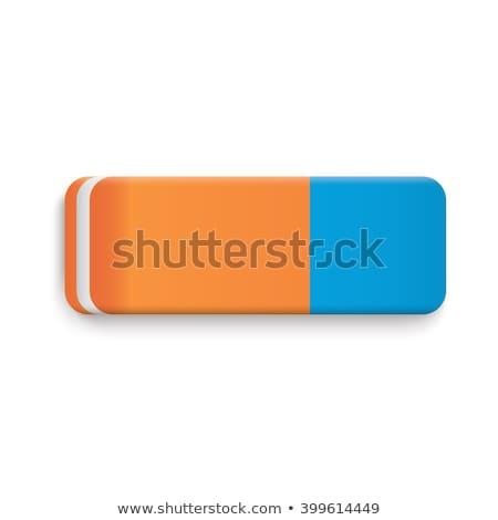 реалистичный Eraser изолированный вектора школы синий Сток-фото © pikepicture