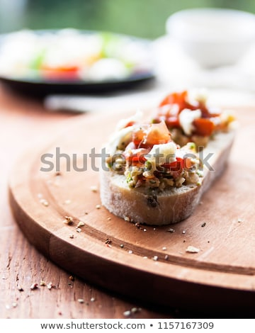 Parmezaanse kaas kerstomaatjes stukken vers witte groep Stockfoto © Digifoodstock