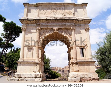 View of Arch of Titus in Rome, Italy stock photo © ankarb