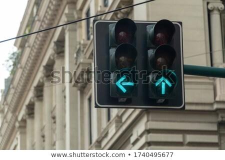 Verde tráfego sinalizar luz verde luz azul céu Foto stock © njnightsky
