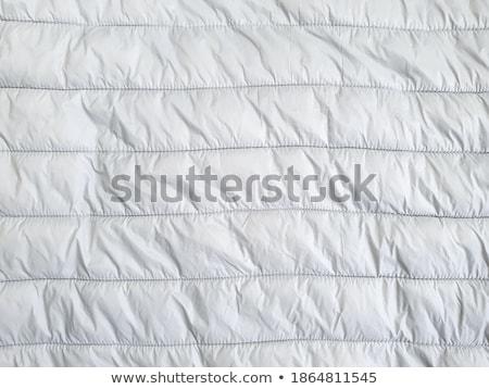 Közelkép szürke textil szövet textúra pamut Stock fotó © dolgachov