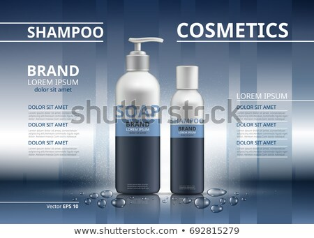 化粧品 ベクトル 現実的な パッケージ 広告 テンプレート ストックフォト © frimufilms