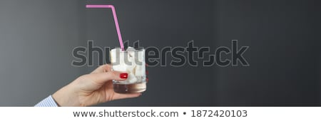 Stock photo: Human Hand Holding Sugar Cubes