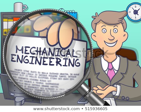 Mechanical Engineering through Lens. Doodle Style. Stock photo © tashatuvango