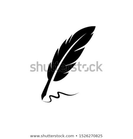 caneta · vintage · escrever · detalhado · isolado · branco - foto stock © krisdog