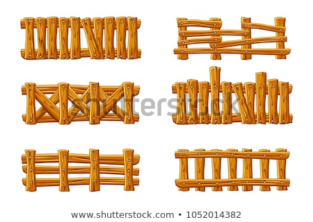 Vector Gardening Concept with Wooden Plank Stock photo © dashadima