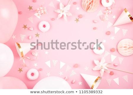 Hercegnő buli menyasszonyi zuhany üdvözlőlap design születésnap Stock fotó © mcherevan