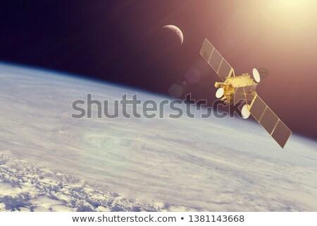 Etrafında gezegen örnek arka plan sanat bilim Stok fotoğraf © bluering