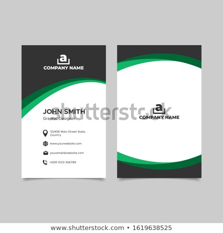 Business card template with green circle logo stock photo © studioworkstock