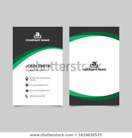 névjegy · sablon · zöld · kör · logo · kreatív - stock fotó © studioworkstock