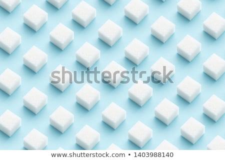 Stock photo: white sugar cubes