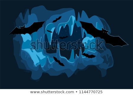 темно Bat пещере иллюстрация фон искусства Сток-фото © bluering