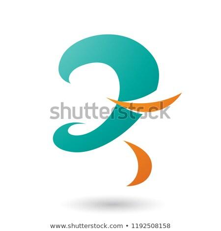 Persian Green Curvy Fun Letter Z Vector Illustration Stock photo © cidepix
