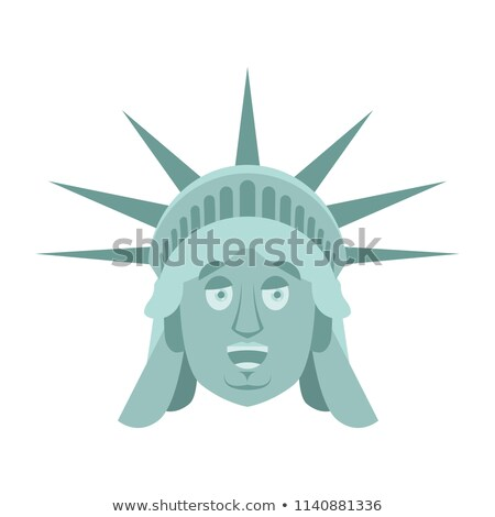 статуя свободы счастливым ориентир лице веселый Сток-фото © popaukropa