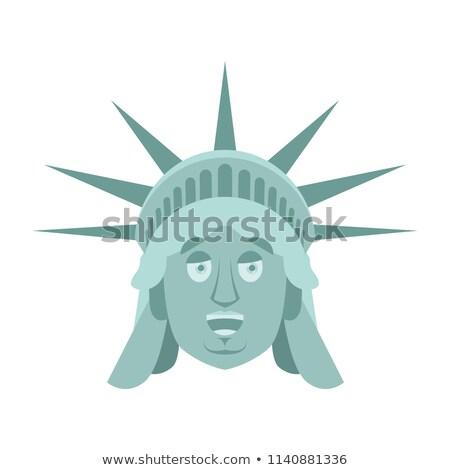 Estatua libertad feliz mojón cara alegre Foto stock © popaukropa