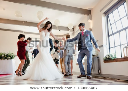 Low angle view of newly wed couple Stock photo © Kzenon