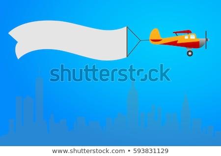 Desenho animado piloto bandeira ilustração criança crianças Foto stock © cthoman