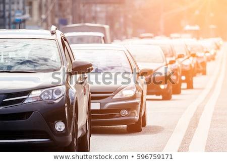 Stok fotoğraf: Rabalar · bir · karayolunda · trafik · sıkışıklığında · sıraya · girmiş