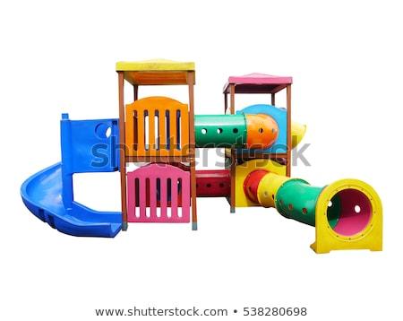 Szett játszótér felszerlés fehér illusztráció háttér Stock fotó © bluering