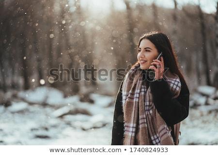 menina · caminhada · cidade · mulher · jovem · rua - foto stock © dolgachov