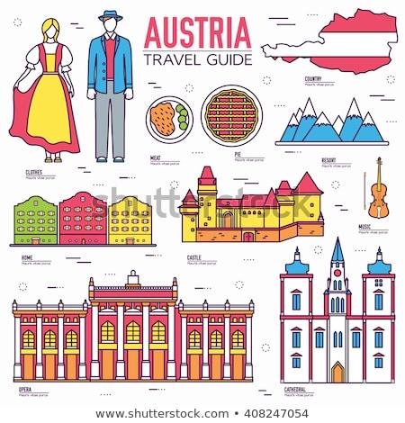 Land Oostenrijk reizen vakantie plaats Stockfoto © Linetale
