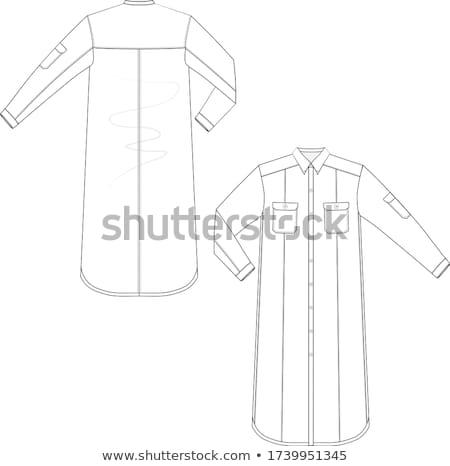 Gyönyörű női ruha sablon ruházat minta Stock fotó © robuart