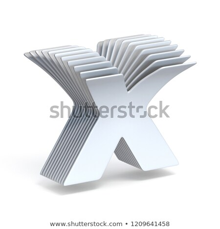 Curved paper sheets Letter X 3D Stock photo © djmilic