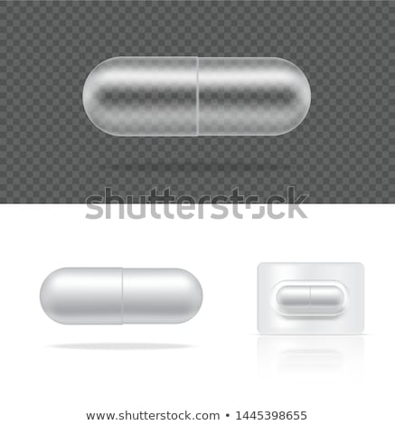 Pill and Capsules in Blister Vector Illustration Stock photo © robuart