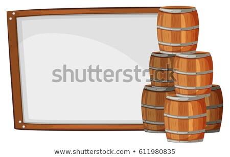 Bord modèle côté illustration fond blanche Photo stock © colematt