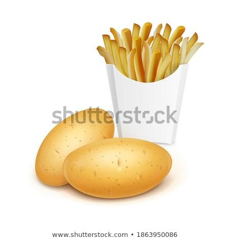 быстрого питания картофель фри набор жареная курица крыльями плакатов Сток-фото © robuart