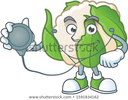 Beteg rajz karfiol illusztráció darab néz Stock fotó © cthoman