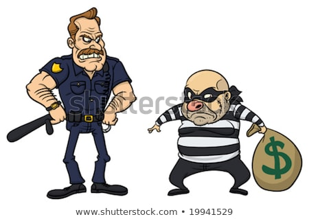 Police Officers Catching a Criminal Illustration Stock photo © artisticco