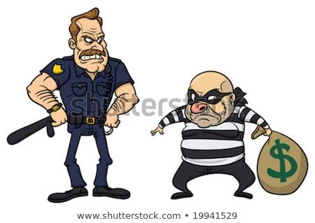 警官 · 泥棒 · 画像 · 警察官 · デザイン · 正義 - ストックフォト © artisticco