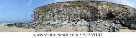 рок пляж Корнуолл небе лице Сток-фото © latent