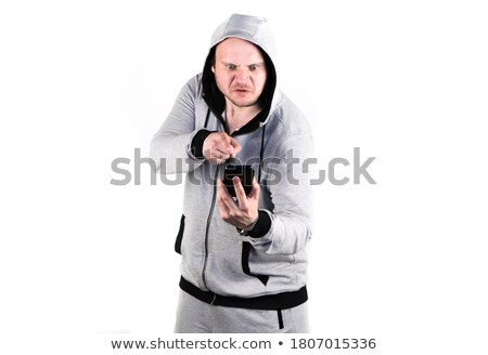 Portrait of two angry young smartly dressed women Stock photo © deandrobot
